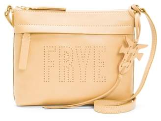 Frye Carson Perforated Logo Leather Crossbody Bag