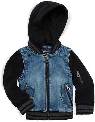 Urban Republic Little Boy's & Boy's Denim Bomber Jacket - Medium Wash, Size 5-6