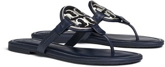 Miller Metal-Logo Sandal, Leather
