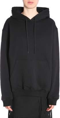 MSGM Hooded Sweatshirt With Logo Print