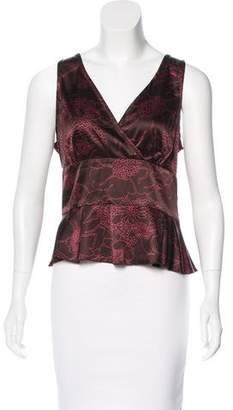 Trina Turk Silk Printed Top