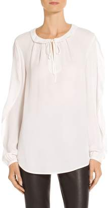 St. John Stretch Silk CDC Blouse