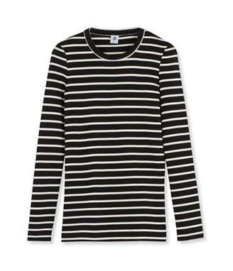 Petit Bateau (プチ バトー) - ボーダークルーネック長袖Tシャツ