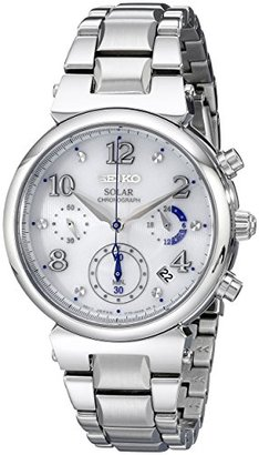 Seiko Women's SSC863 Analog Display Analog Quartz Silver Watch $350 thestylecure.com