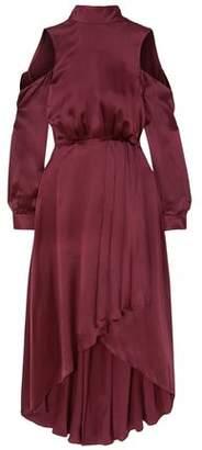 Diane von Furstenberg Cold-shoulder Tie-back Silk-satin Midi Dress