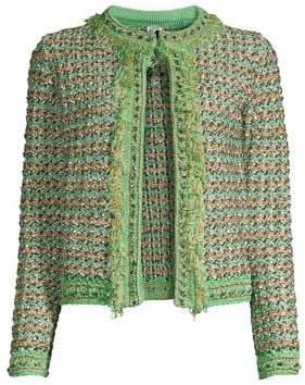 M Missoni Women's Tweed Jacket - Green - Size 38 (2)