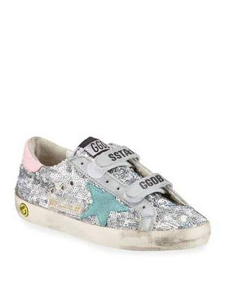 Golden Goose Girl's Old School Paillettes Sneakers, Toddler/Kids