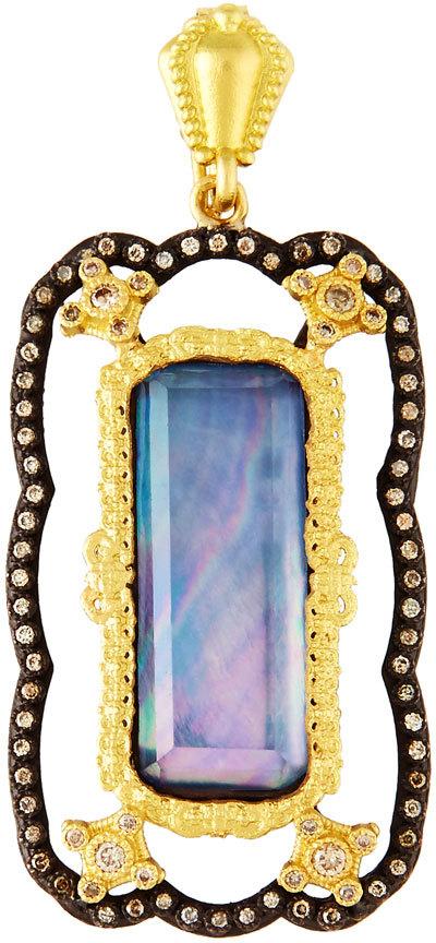 ArmentaArmenta Old World Quartz Triplet Enhancer w/ Champagne Diamonds