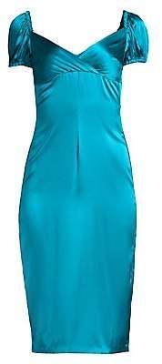 Alexis Women's Cadiz Satin Silk Sheath Dress