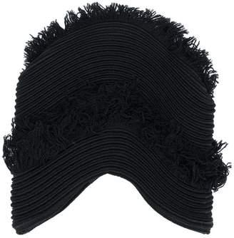 Issey Miyake plissé fringed cap
