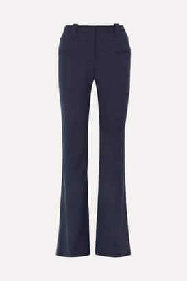 Altuzarra Serge Wool-blend Piqué Bootcut Pants - Navy