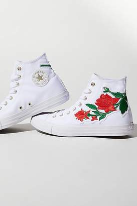 Converse Embroidered Rose Hi Top Sneaker