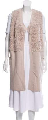Duffy Mongolian Fur Paneled Vest
