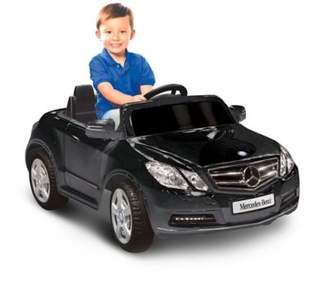 Kid Motorz Mercedes Benz E550 1-Seater 6-Volt Ride-On in Black $183.99 thestylecure.com