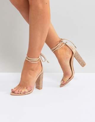 Public Desire Fatale Sparkle Heeled Sandals