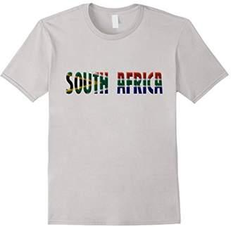 SOUTH AFRICA - South African Flag Colors Souvenir T-shirt