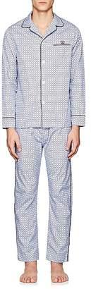 Maison Marcy Men's Golf-Print Cotton Pajama Set