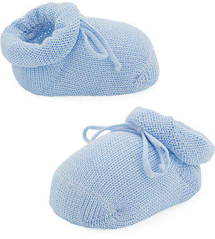 story. Loris Basic Cotton Bootie w/ Bow, Baby