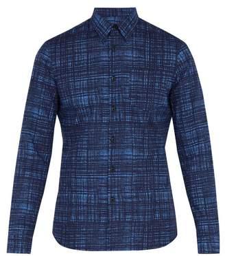 Prada Printed Long Sleeve Cotton Shirt - Mens - Navy Multi
