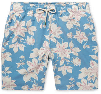 Faherty Beacon Wide-Leg Long-Length Floral-Print Swim Shorts