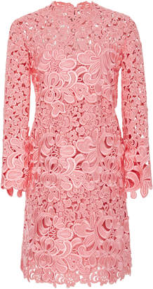 Ermanno Scervino Embroidered Lace Cutout Dress