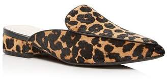 Cole Haan Women's Piper Leopard Print Calf Hair Pointed-Toe Mules