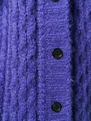 Prada cable knit cardigan
