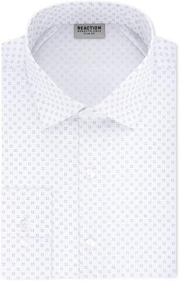 Kenneth Cole Reaction Men's Techni-Cole Slim-Fit Flex Collar Three-Way Stretch Performance White Print Dress Shirt
