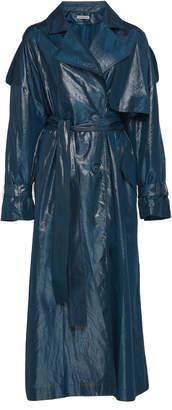 Vika Gazinskaya Glossy Silk Taffeta Trench Coat