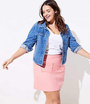 LOFT Plus Lacy Patch Pocket Skirt