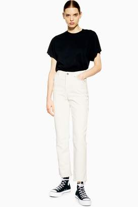 Topshop Womens **Straight Slim Jeans By Boutique - White