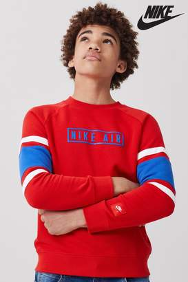 Nike Boys Red Crew Sweater - Red