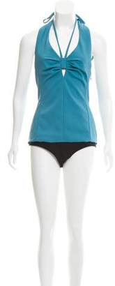 Rosie Assoulin Esther Williams Halter Bodysuit w/ Tags
