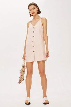 Topshop Button Front Mini Slip Dress