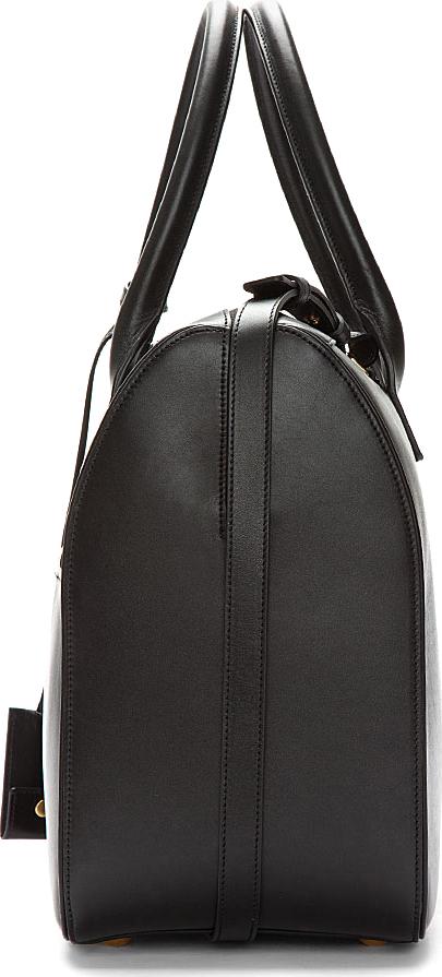Saint Laurent Black Leather Bo Rive Gauche Tote