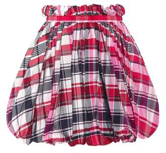 Alexander McQueen Checked silk and cotton miniskirt