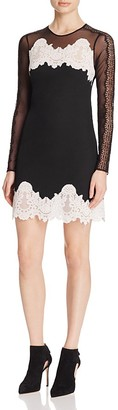 Sandro Kyra Mixed-Lace Dress - 100% Exclusive $495 thestylecure.com
