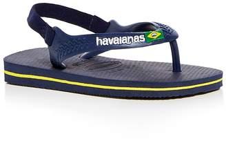 Havaianas Unisex Brazilian Flag Slingback Flip-Flops
