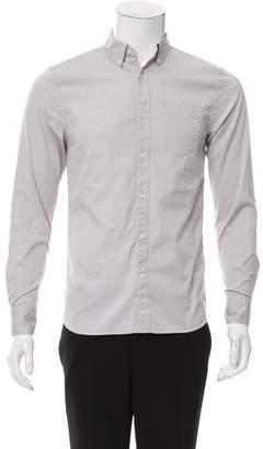 Frame Point Collar Button-Up Shirt