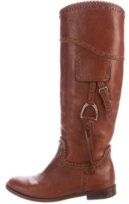 Ralph Lauren Collection Leather Knee-High Boots $195 thestylecure.com