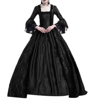 3a98e31418 ROHEP Women s Lace Gothic Party Victorian Renaissance Cocktail Dress L