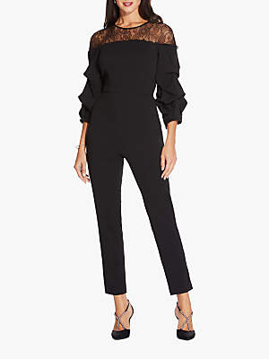 488e6db25c Adrianna Papell Crepe Lace Jumpsuit