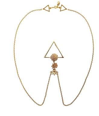 Glenda López The Golden Flowers Clip Necklace