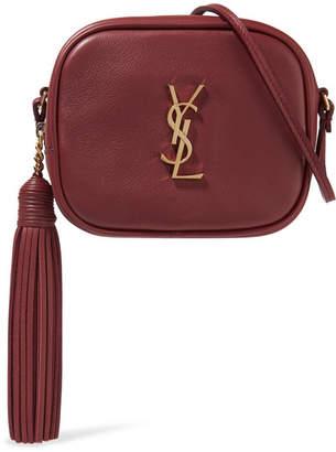 Saint Laurent Monogramme Blogger Leather Shoulder Bag - Claret