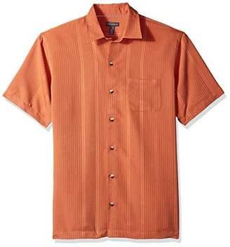Van Heusen Men's Air Stripe Short Sleeve Button Down Shirt