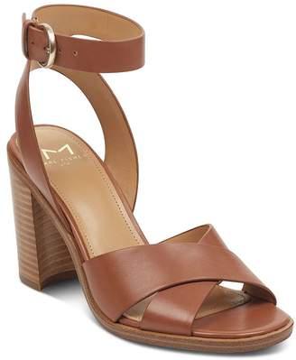 Marc Fisher Women's Lorla Leather Block Heel Sandals