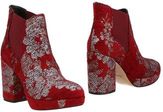 Rose' A Pois Ankle boots