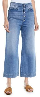 A.L.C. Patrick Cropped Wide-Leg Denim Pants