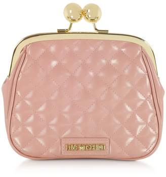 Love Moschino Quilted Eco-leather Clutch W/chain