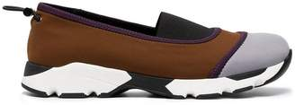Marni Brown Neoprene Slip On Sneakers